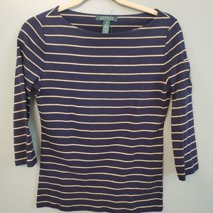 Ralph Lauren 3/4 Sleeve Top